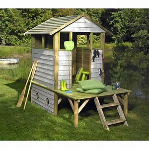 cabane pour enfants bois arthur achat vente With construire une maisonnette en bois