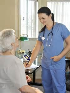 Registered Nurse with Patient