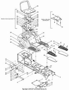 Mtd 13ai608h352  2002  Parts Diagram For Frame Components  U0026 Seat