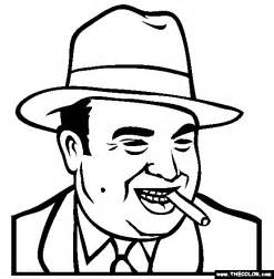 al capone coloring page chicago gangster