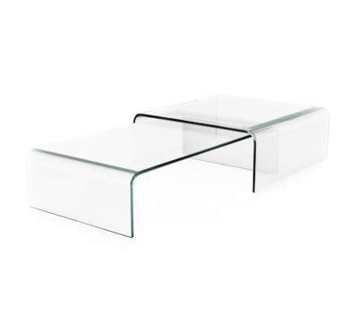 table gigogne verre table basse en verre tremp 233 noir hava design tooshopping