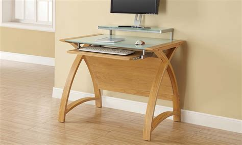 serpentine cm computer desk oak finish clearance