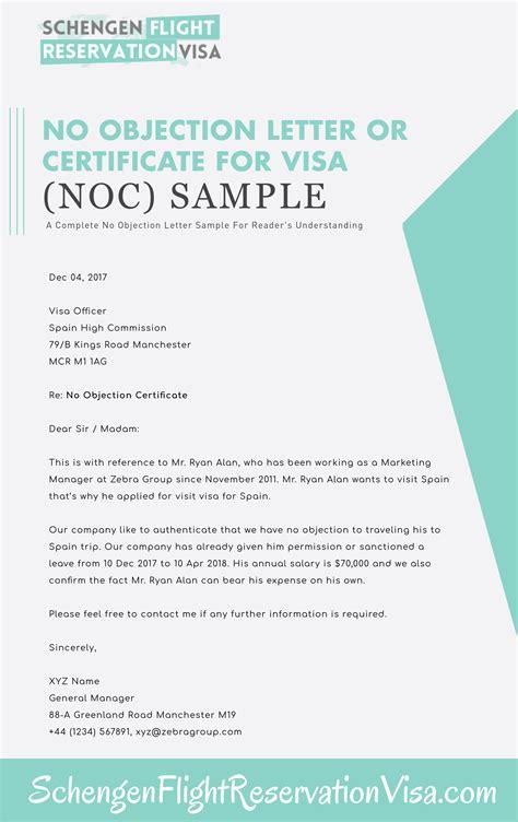 objection letter  visa application  sample