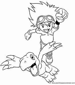 Digimon Para Dibujar Pintar Colorear Recortar Y Pegar