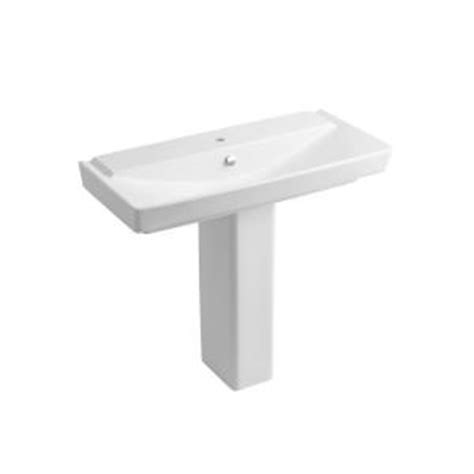 kohler reve 39 pedestal sink kohler reve 39 in pedestal bathroom sink combo in honed