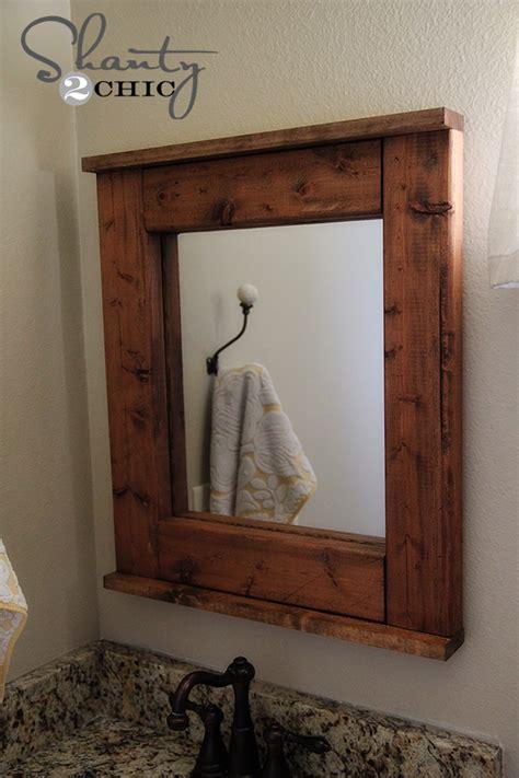diy wooden mirror shanty  chic