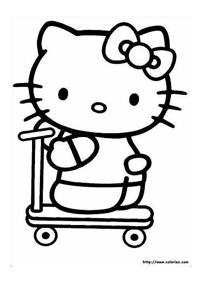 Kitty Hello Coloring Pages Mega