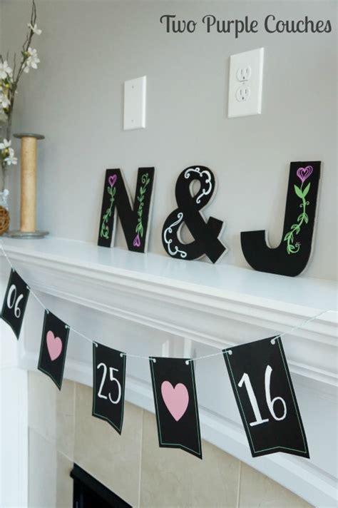 garden party bridal shower  purple couches