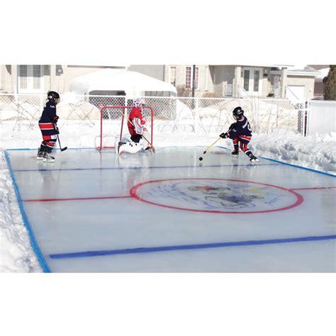 Best Backyard Hockey Rinks by The Personalized Backyard Rink Small Hammacher