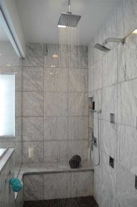rain bath shower head  kohler modern master bathroom