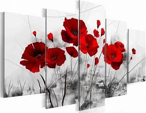 Tableau En 5 Parties : tableau 5en1 coquelicot 100x50 cm agen lot et garonne ~ Dailycaller-alerts.com Idées de Décoration