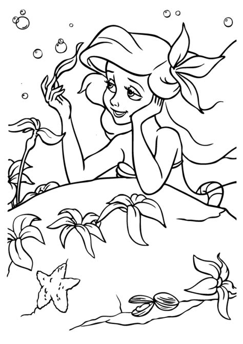 mermaid coloring pages classic disney