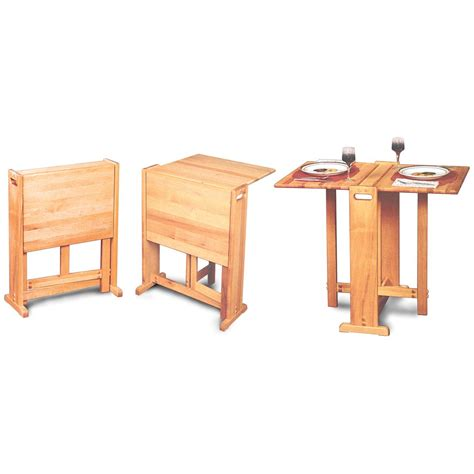 Fold Away Butcher Block Dining Table Picture Decofurnish