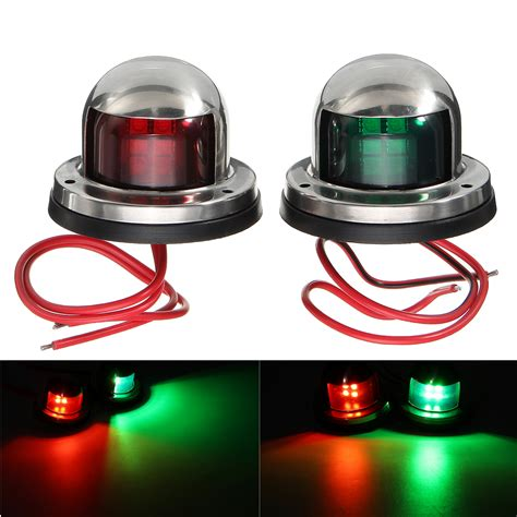 yacht light 12v stainless steel led bow green