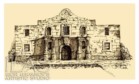 How To Draw The Alamo