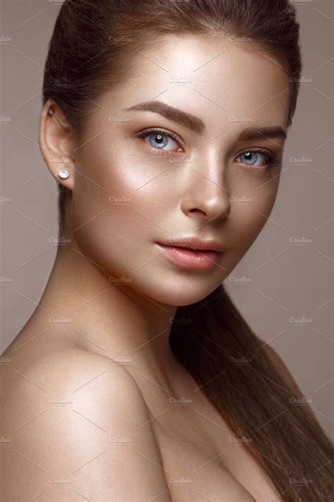 Beautiful Young Girl With Natural Nude Make Up Beauty