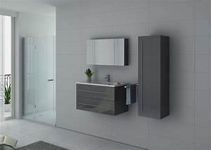 Meuble Salle De Bain Taupe : meuble de salle de bain simple vasque gris taupe nova ~ Dailycaller-alerts.com Idées de Décoration