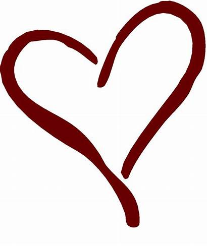 Heart Outline Clipart Clip Hearts Curly Double