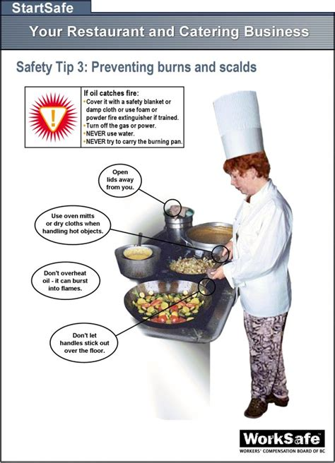 culinary arts  preventing burns scalds