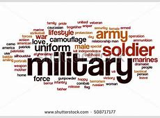 Military Word Cloud Concept Stock Illustration 508717177
