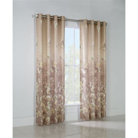 lined insulated grommet floral curtain 54 quot wide