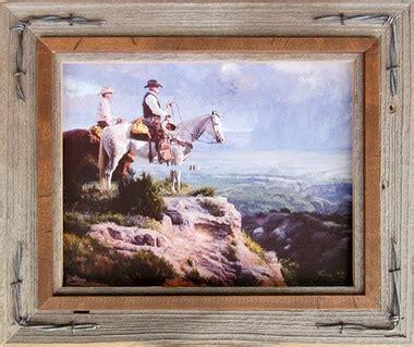 western frames barnwood photo frame  barbed wire