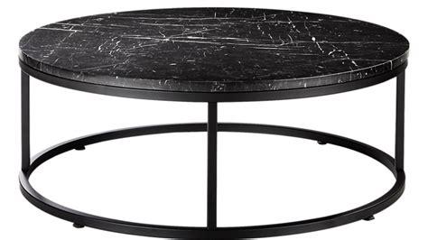 36 l coffee table black wood round metal leg 1452. Smart Round Black Marble Coffee Table + Reviews   Black marble coffee table, Coffee table, Round ...