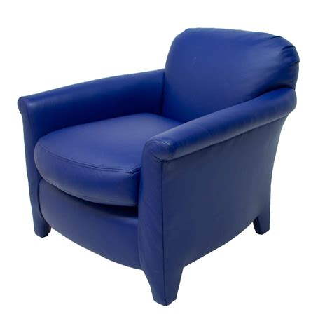 modern blue leather upholstered club chair exciting