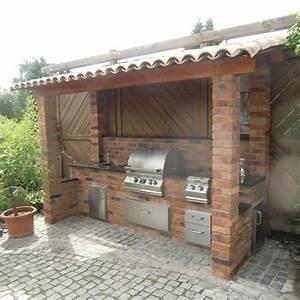 Küche Selbst Gebaut : outdoork che aus backstein mit fire magic einbau gasgrill selber baue ~ Watch28wear.com Haus und Dekorationen