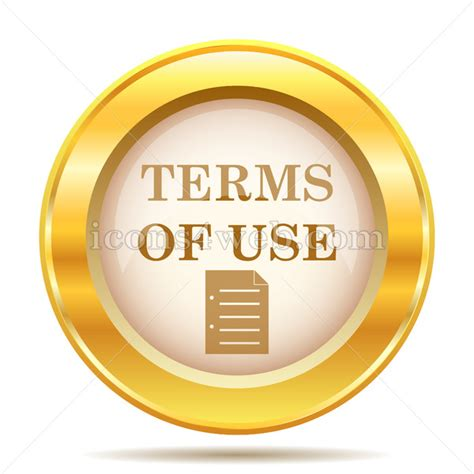 terms of use terms of use golden button