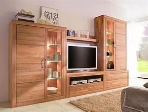 Wohnwand Holz Massiv : wohnwand wohnzimmer schrank schrankwand anbauwand kernbuche massiv holz ge lt ebay ~ Yasmunasinghe.com Haus und Dekorationen