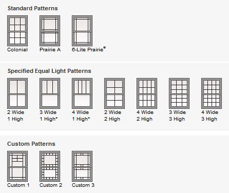 andersen windows double hung grille patterns   home   andersen windows double