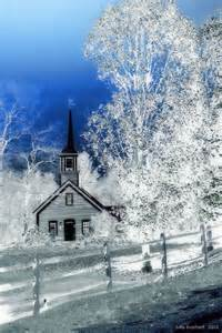 Winter Country Church Scenes