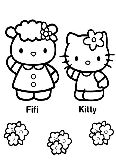 Hello kitty free to color for children Hello Kitty Kids
