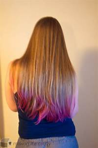 Colorful Tips Dip Dyed Hair Of Hair With Color Tips