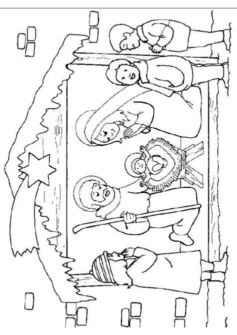 Kerst Kribbe Kleurplaat by Kleurplaat Kerst Kleurplaten De Kerststal Met Daarin