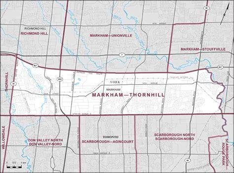 markham thornhill maps corner elections canada online