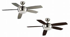 Modern and quiet ceiling fan white or nickel