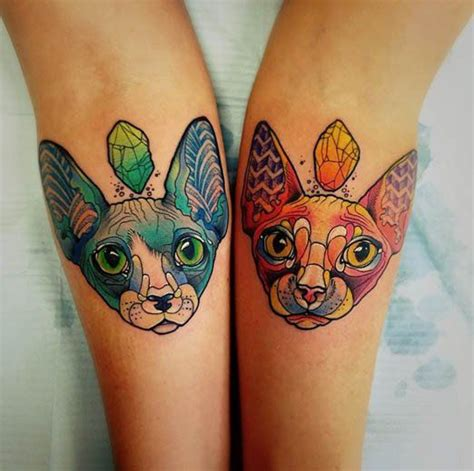 oddly charming sphynx cat tattoos tattoo inspirations