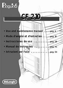 Delonghi Cf210 Instruction Manual