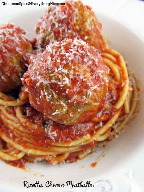 ricotta meatballs ricotta cheese meatballs recipe meatballs in oven cinnamon spice and sauces