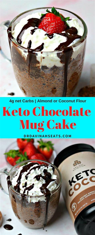 keto chocolate mug cake dr davinahs eats