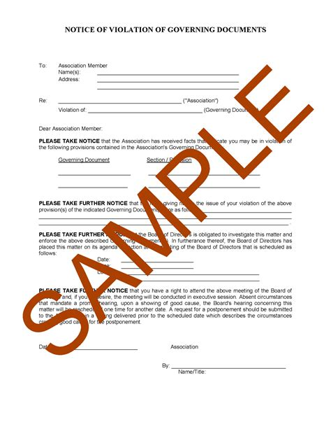 hoa letter samples forms  templates hoa member services