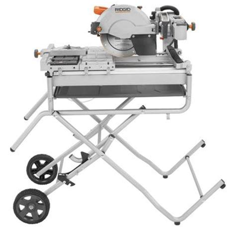 home depot ridgid tile saw ridgid ridgid tile saw and stand 10 inch home depot