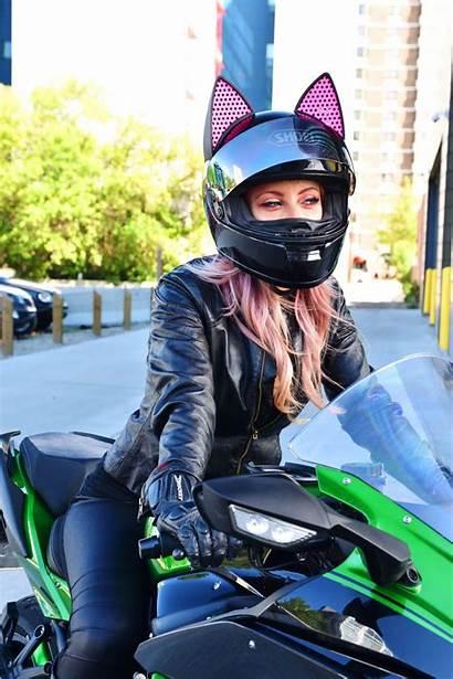 Casque Moto Chat Oreille Helmet Motorcycle Fille
