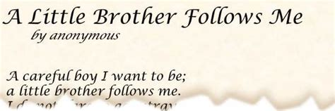 poem   brother    anonymous