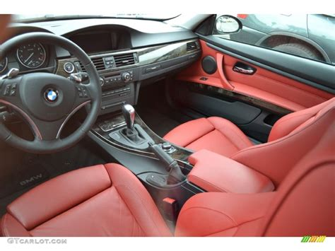 bmw red interior coral red black dakota leather interior 2009 bmw 3 series