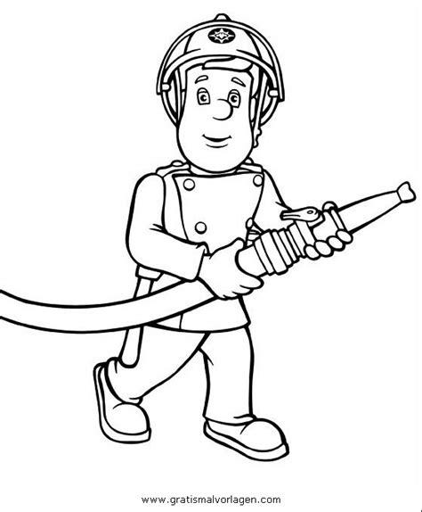 feuerwehrmann sam  gratis malvorlage  comic