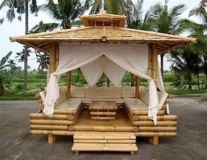 Pergola En Bambou : exquisite bamboo wood gazebo home design garden ~ Premium-room.com Idées de Décoration