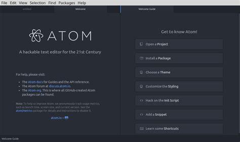 atom  hackable text  source code editor  linux